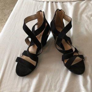 Black low heels